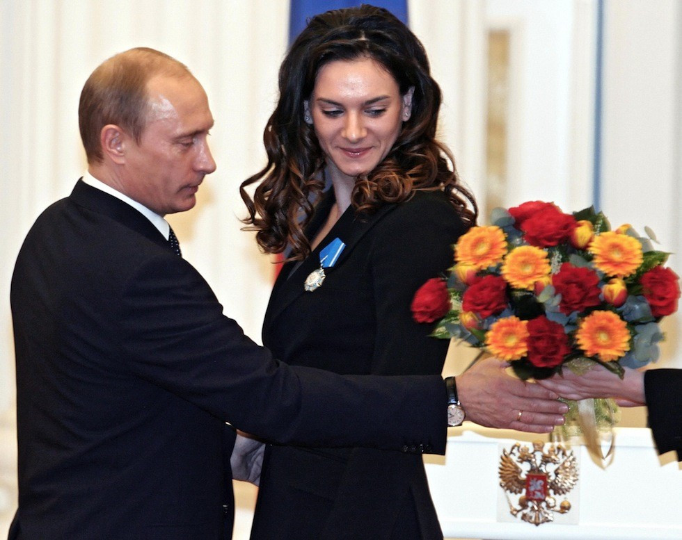 Yelena Isinbayeva, a close personal friend of Russian President Vladimir Putin, has applied to the IAAF to be allowed to take part as a neutral athlete at Rio 2016 ©Kremlin