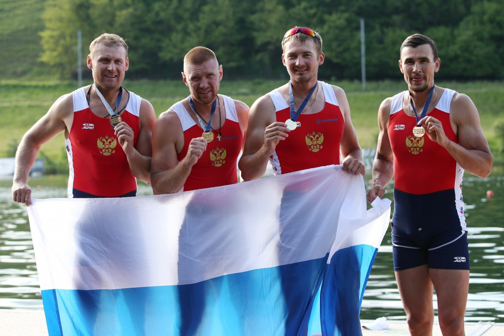 Russia's men's quadruple sculls crew have been banned from competing at the Olympic Games in Rio de Janeiro ©Getty Images