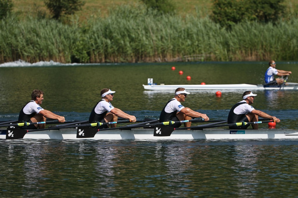 New Zealand's Jade Uru, Nathan Flannery, George Bridgewater and John Storey have been given Russia's spot at Rio 2016 ©Getty Images