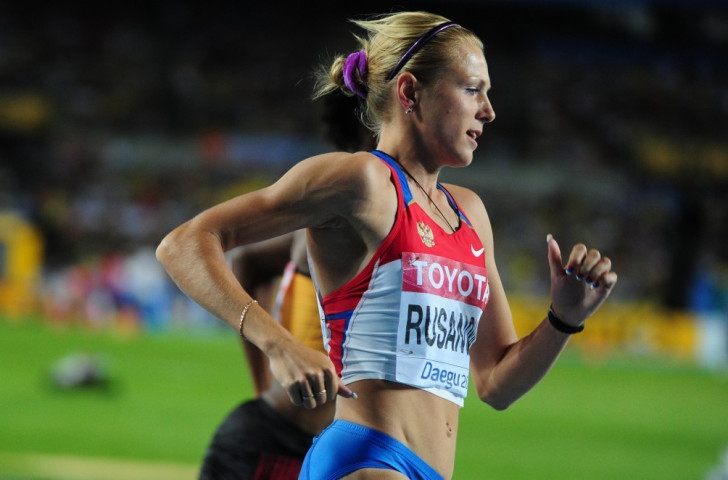 Yulia Stepanova, racing under her maiden name Rusanova, competes at the 2011 World Championships in Daegu where she effectively cheated British athlete Jenny Meadows of a place in the final ©Getty Images