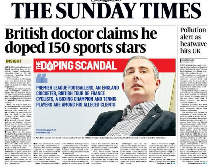 Allegations against Mark Bonar were originally published in the Sunday Times in March ©The Sunday Times