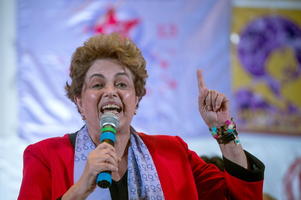 Eduardo Paes stated that political scandals, including the upcoming impeachment trial of Dilma Rousseff (pictured), have prevented the country from showcasing itself ©Getty Images
