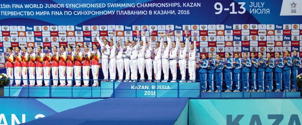 Hosts Russia a cut above at FINA World Junior Synchronised Swimming Championships