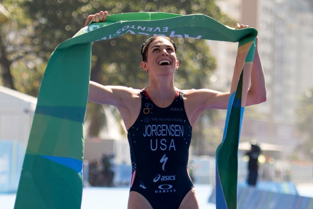 American Gwen Jorgensen triumphed in the Rio 2016 triathlon test event and is fully focused on repeating her success at the Olympic Games next month ©Getty Images