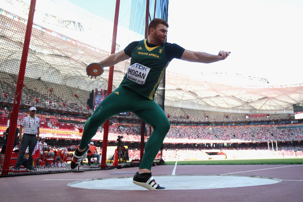 South Africa has dropped discus thrower Victor Hogan from its team for Rio 2016 after he tested positive for banned drugs ©Getty Images
