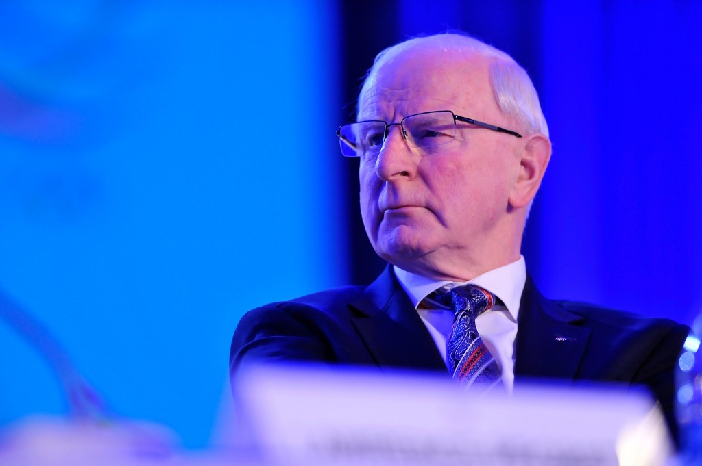 EOC President Patrick Hickey announced in November that Russia was the preferred option to host the second edition of the European Games ©Getty Images
