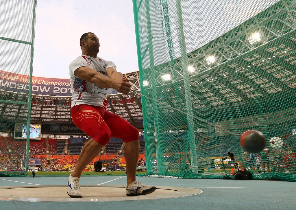 Japan's hammer thrower Koji Murofushi is standing again after being controversially disqualified at London 2012 ©Getty Images