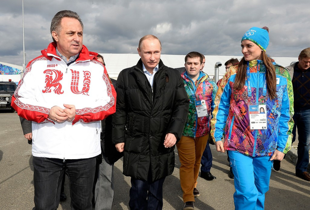 Russian Deputy Prime Minister Vitaly Mutko, left, and President Vladimir Putin dispute claims in the McLaren Report that they were behind a state-sponsored doping programme ©Getty Images