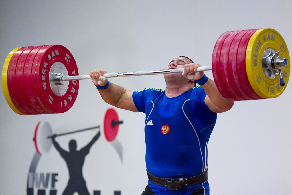 Two-time world over 105kg champion Ruslan Albegov has been banned from Rio 2016, along with the rest of his Russian team-mates, following publication of the McLaren Report ©Getty Images