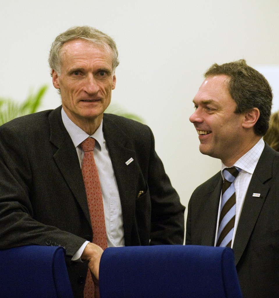 """Danish Sports Minister Bertel Haarder, left, said he was """"satisfied that so many European countries are standing together to fight against doping and have agreed on a joint statement in this regard"""" ©Getty Images"""