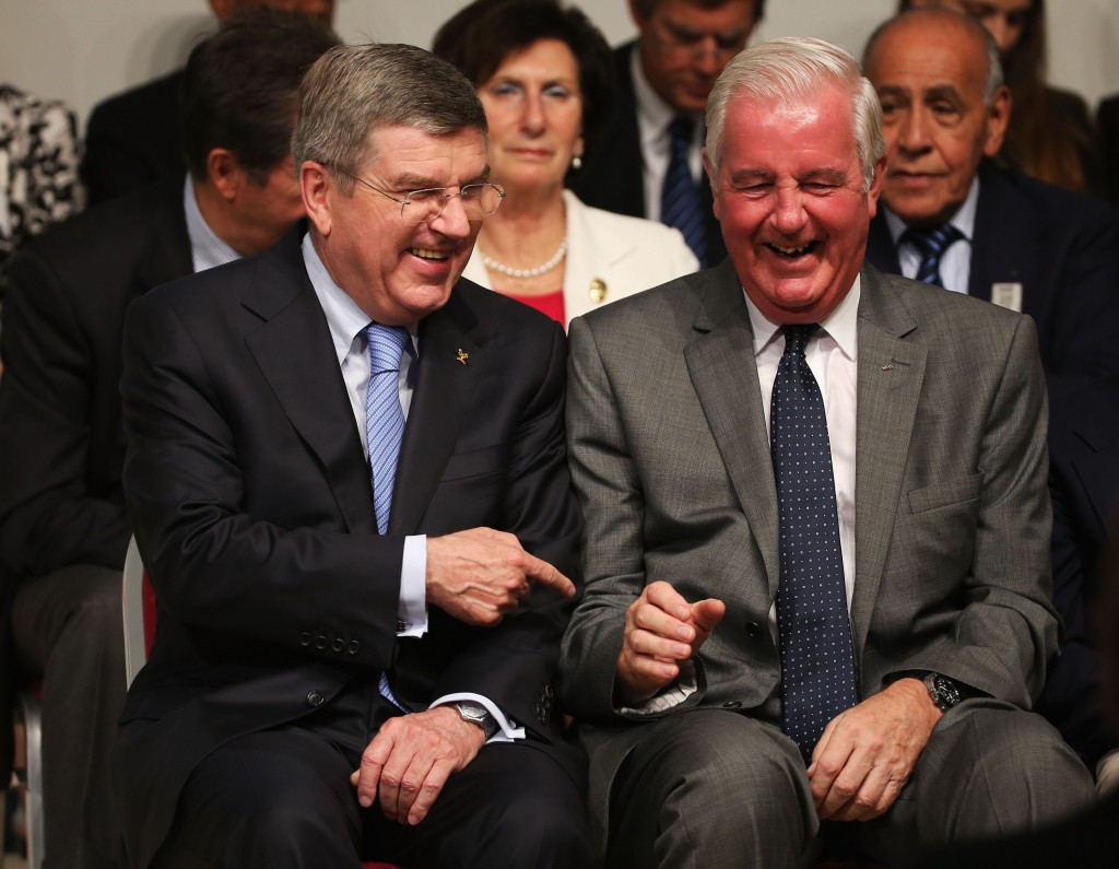 Thomas Bach and Sir Craig Reedie pictured together in happier times in 2013 ©Getty Images