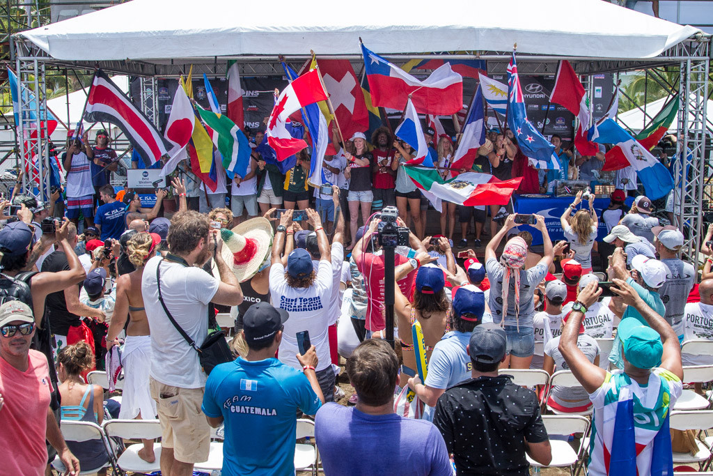 The 2016 International Surfing Association World Surfing Games has been officially declared open by ISA vice president, Casper Steinfath ©ISA