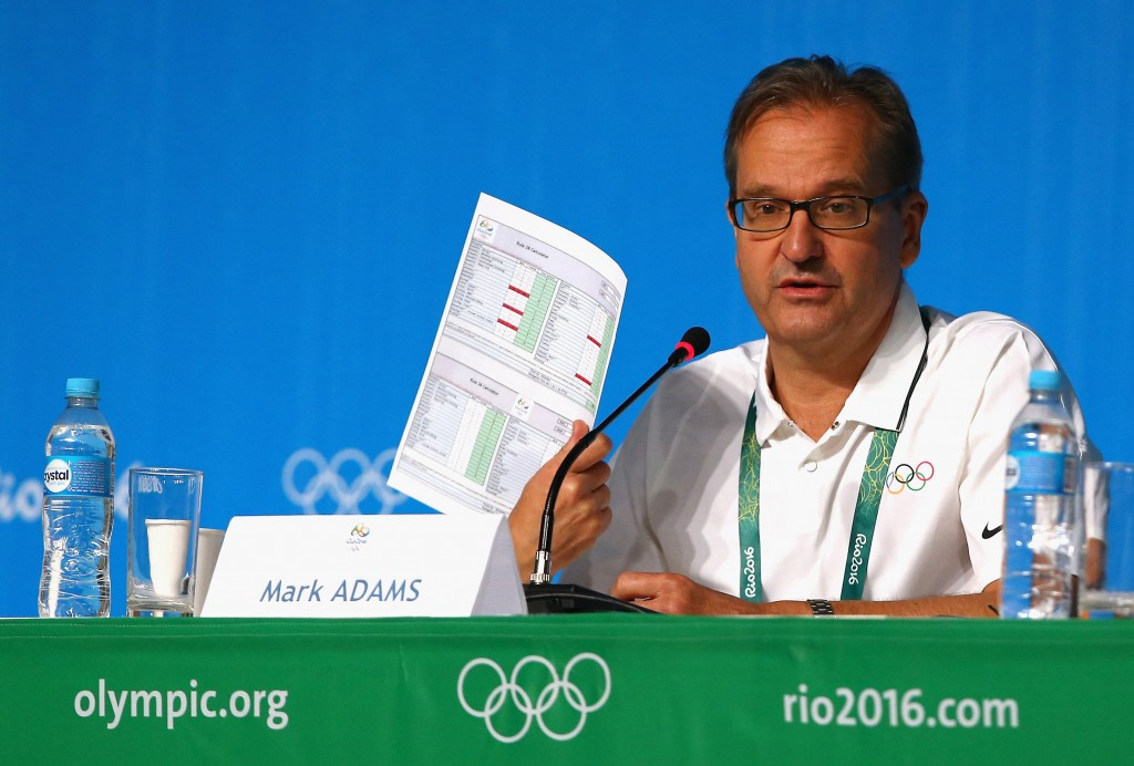 IOC Presidential spokesman Mark Adams valiantly defended the legacy of Rio 2016 here today ©Getty Images