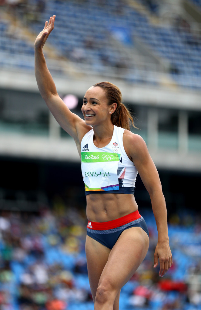 Britain's Jessica Ennis-Hill began the defence of her Olympic heptathlon title at Rio 2016 before a disappointing crowd at the Estádio Olímpico João Havelange ©Getty Images