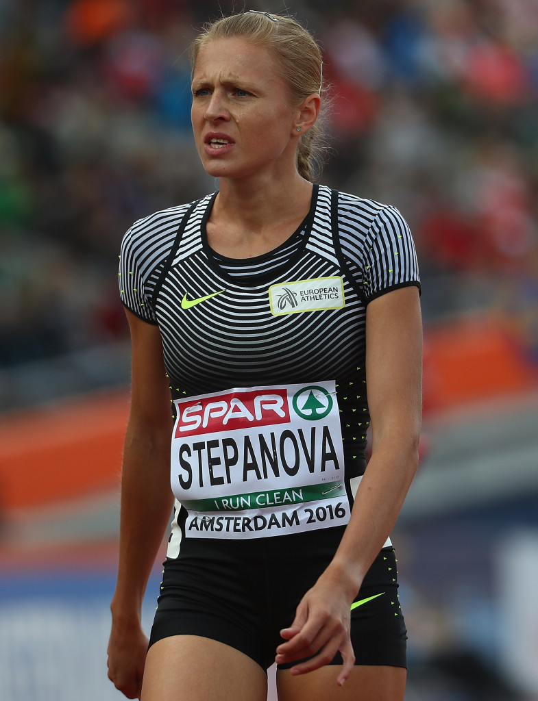 Yuliya Stepanova Was allowed to comepte as an independent athlete at at last month's European Championships in Amsterdam last month but been banned from Rio 2016 by the IOC ©Getty Images