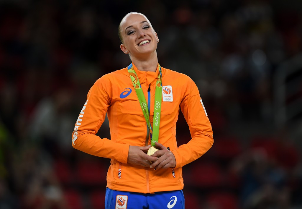 Sanne Wevers of The Netherlands secured a surprise gold on the balance beam ©Getty Images