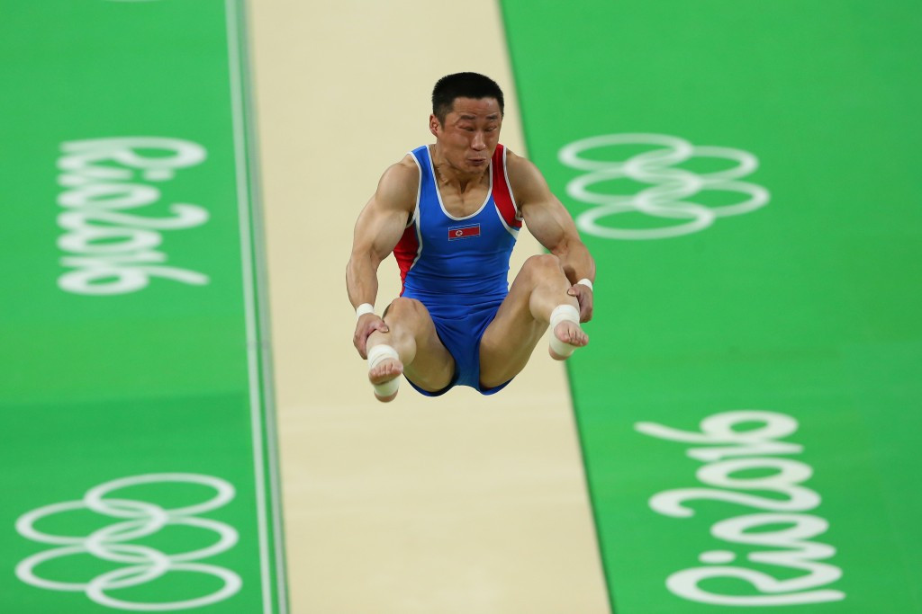 Ri Se-gwang of North Korea added the Olympic gold medal to his world title on vault ©Getty Images