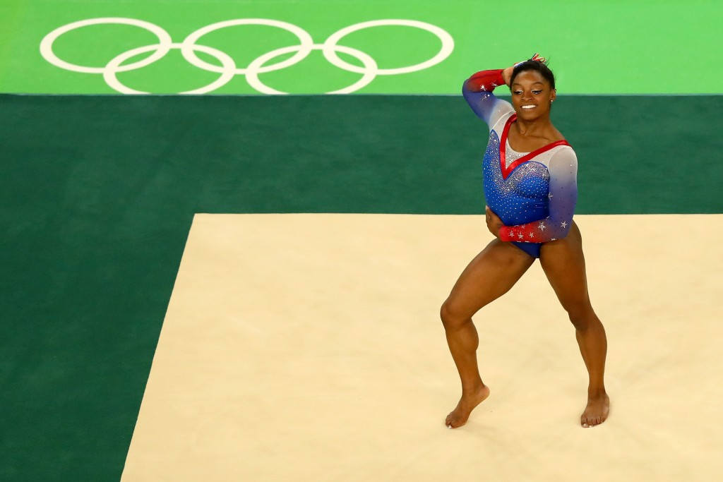 Biles bounces back from beam disappointment with fourth gold medal at Rio 2016 on final day of artistic gymnastics