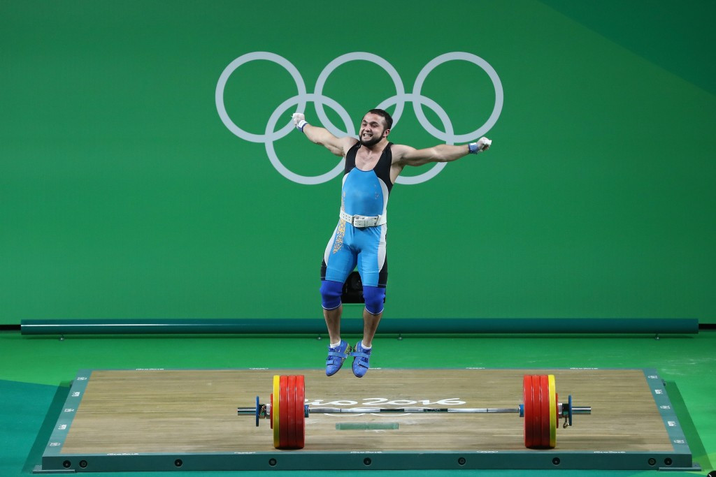 Kazakhstan's Nijat Rahimov claimed gold at Rio 2016, but could now be suspended for a year ©Getty Images