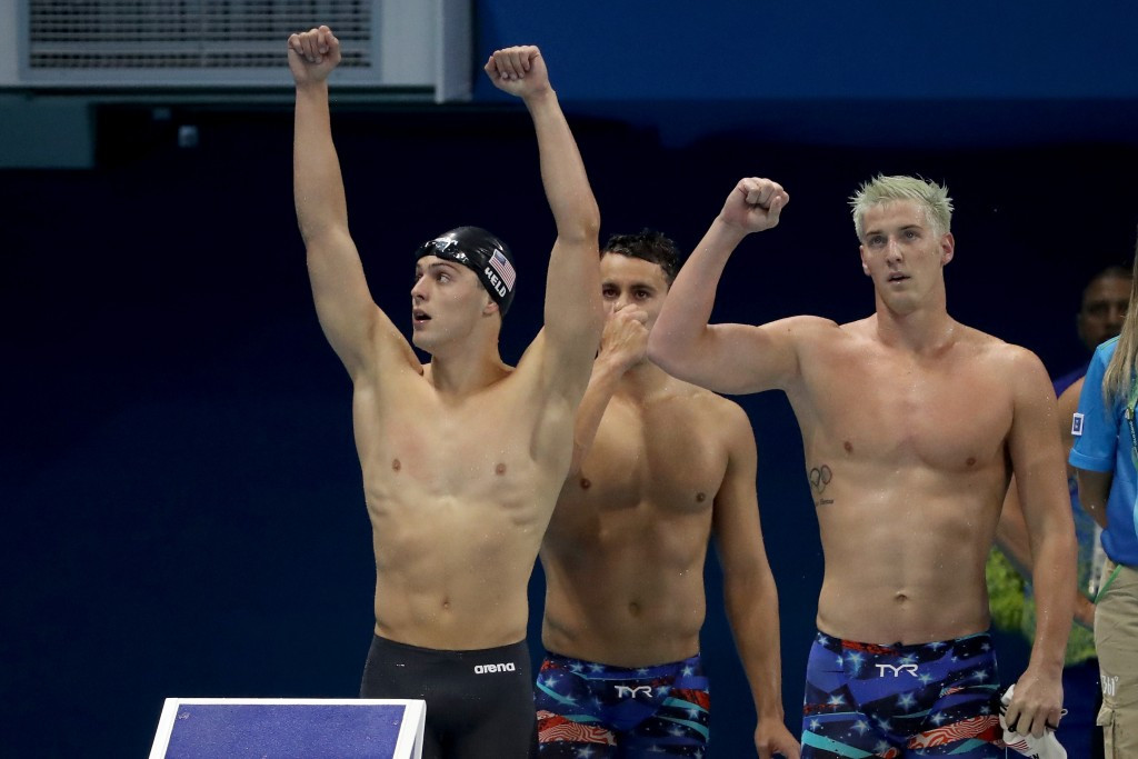 James Feigen participated in the 4x100m freestyle event at the Rio 2016 Olympics ©Getty Images