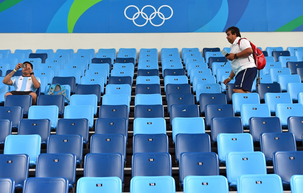 Empty seats have also been a problem at the Olympic Games ©Getty Images