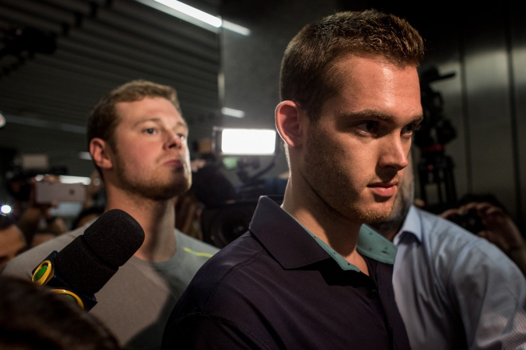 Gunnar Bentz and Jack Conger were removed from their flight yesterday as the investigation continues ©Getty Images