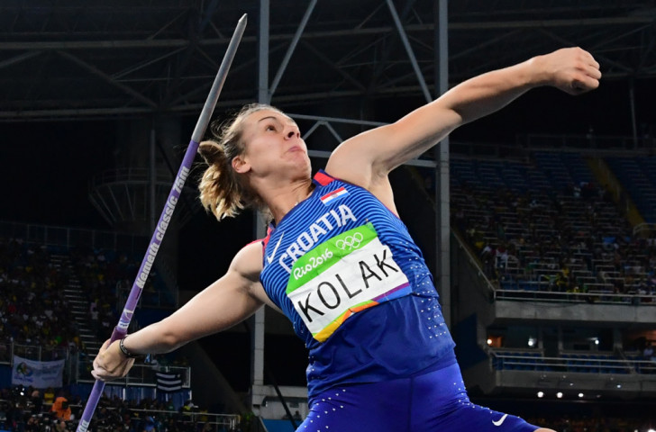 Croatia's Sara Kolak was an unexpected winner of the women's javelin with 66.18m ©Getty Images