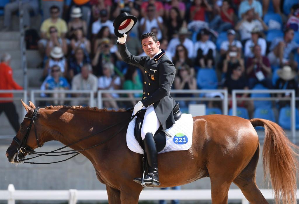 Ingmar De Vos described the Olympic equestrian action as