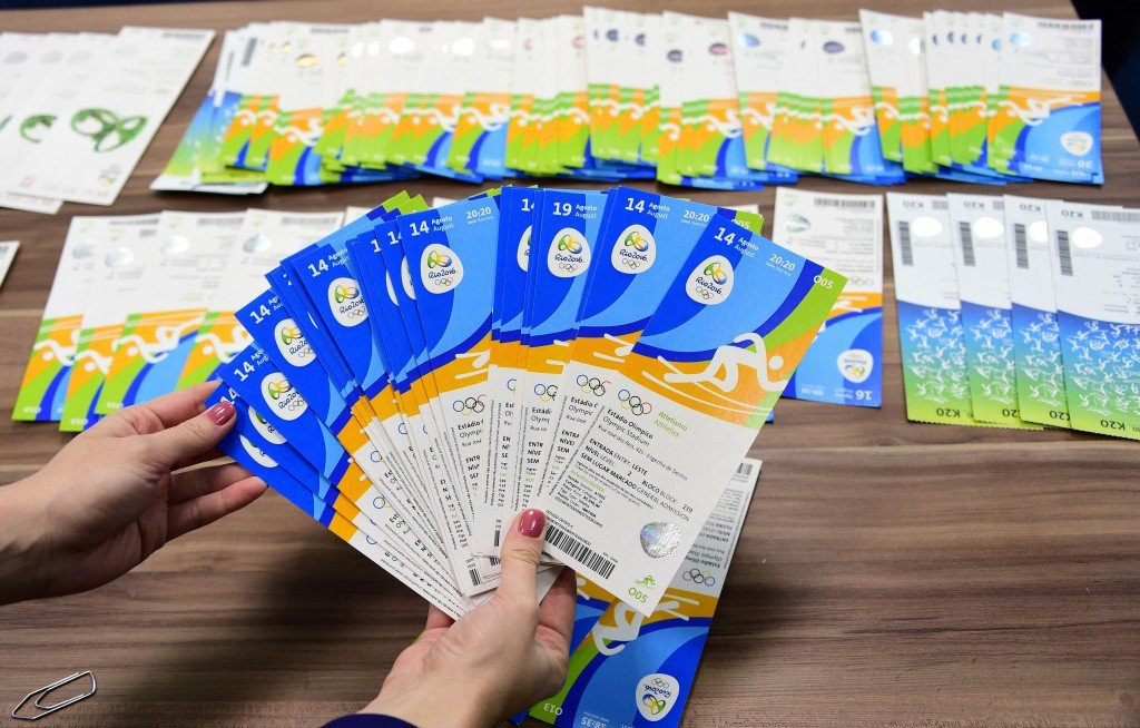 Tickets seized from the Olympic Council of Ireland allocation for Rio 2016 has sparked the crisis ©Getty Images