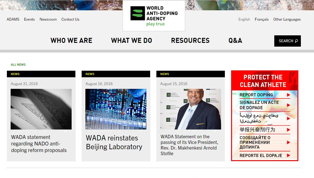 WADA's website has been the subject of hacking attempts, according to director general Olivier Niggli ©WADA
