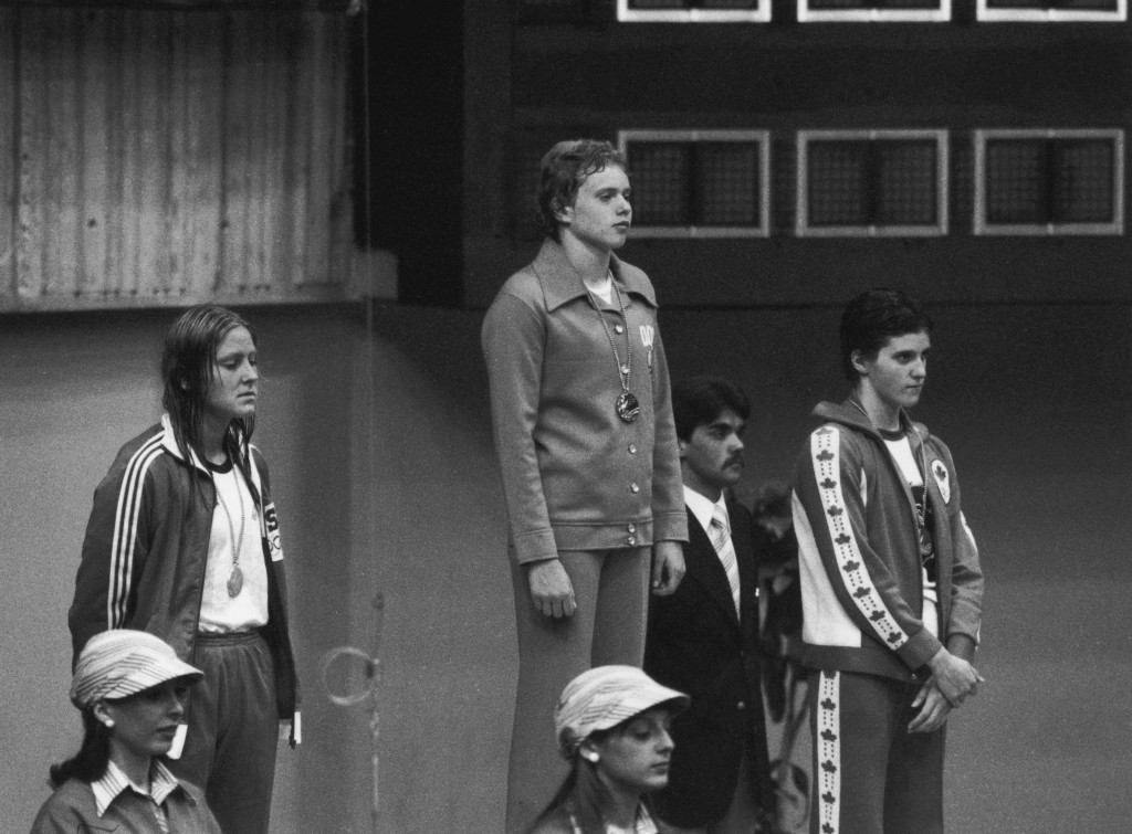 Shirley Babashoff, left, earned four Olympic silver medals at Montreal 1976, finishing behind an East German on each occasion and has long campaigned for the results to be altered following evidence of state-organised doping in the former communist country ©Getty Images