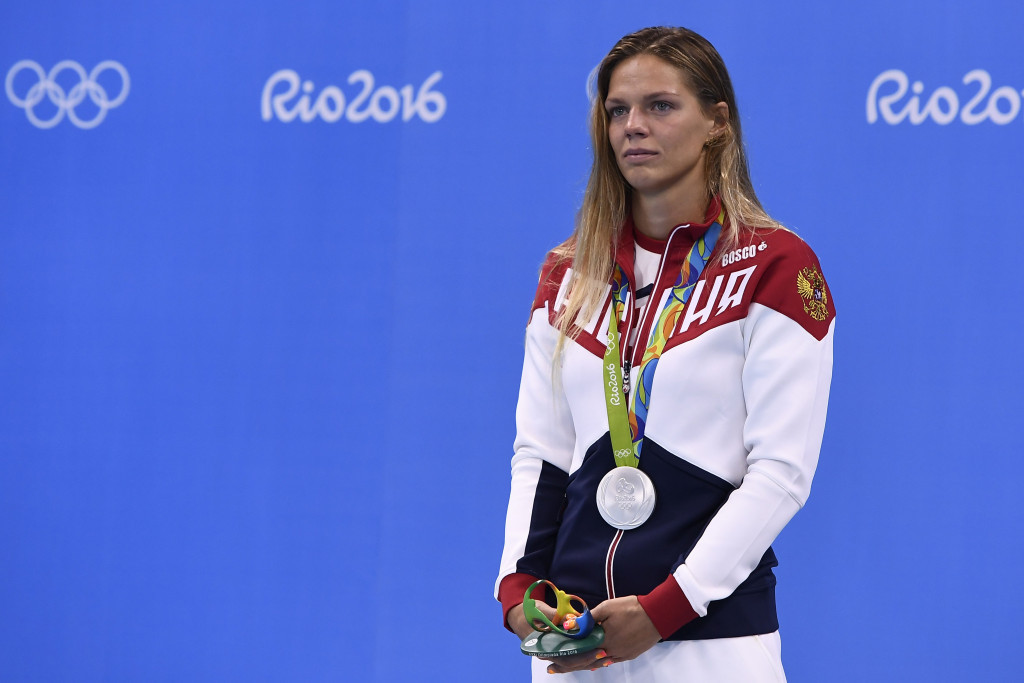 Russia's Yuliya Efimova was only granted permission to swim at Rio 2016 the week before the Olympics following a successful appeal to CAS but went on to win two silver medals ©Getty Images