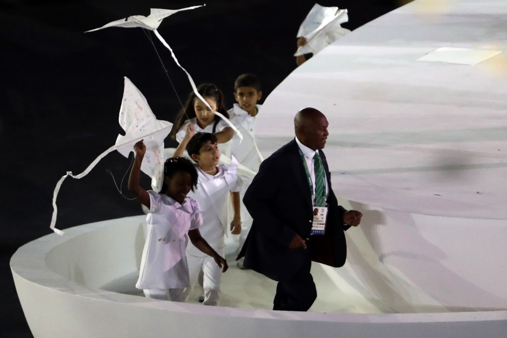 National Olympic Committee of Kenya chairman Kipchoge Keino was awarded the Olympic Laurel by IOC President Thomas Bach at the Opening Ceremony of Rio 2016 ©Getty Images