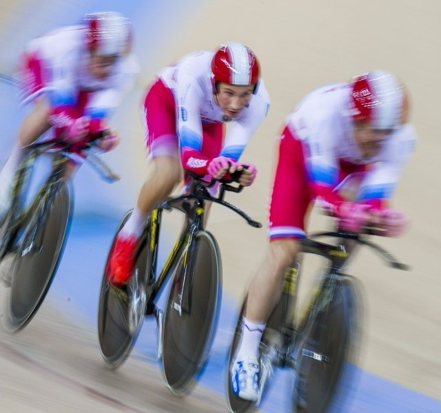 Russia's team pursuit cyclists have strongly denied allegations of doping documented in the McLaren Report ©Getty Images