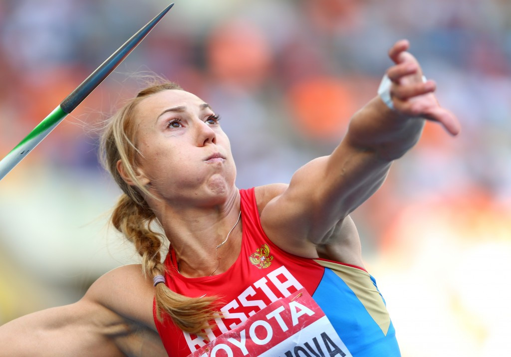 Maria Abakumova has been stripped of her Olympic javelin silver medal ©Getty Images