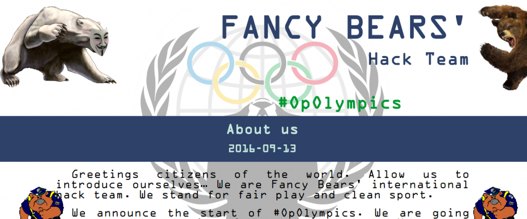 A group calling themselves the Fancy Bears Hack Team claim to have carried out the attack ©Fancy Bears