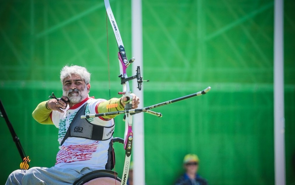 Ebrahim Ranjbarkivaj won the bronze medal for Iran on a successful day for the nation ©World Archery