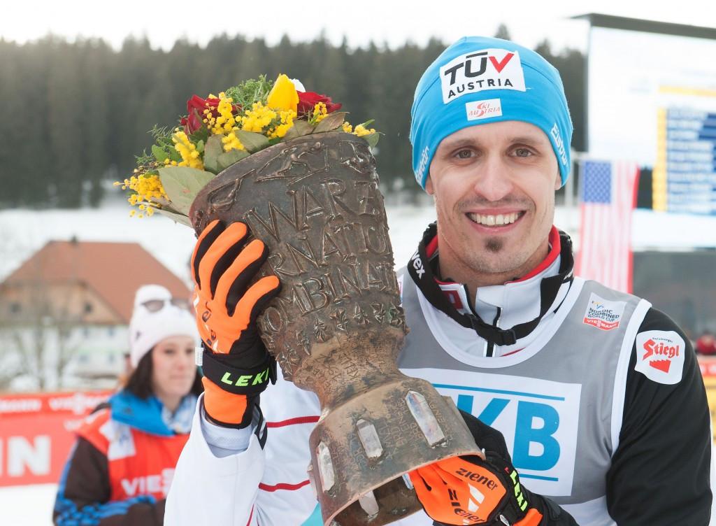Lukas Klapfer injured his shoulder while mountain biking ©Getty Images