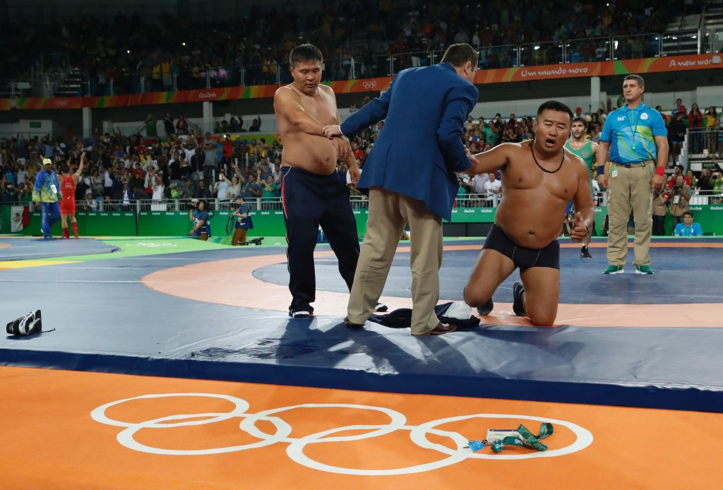 Two Mongolian coaches have been banned for three years for removing their clothes in protest at Rio 2016 ©Getty Images
