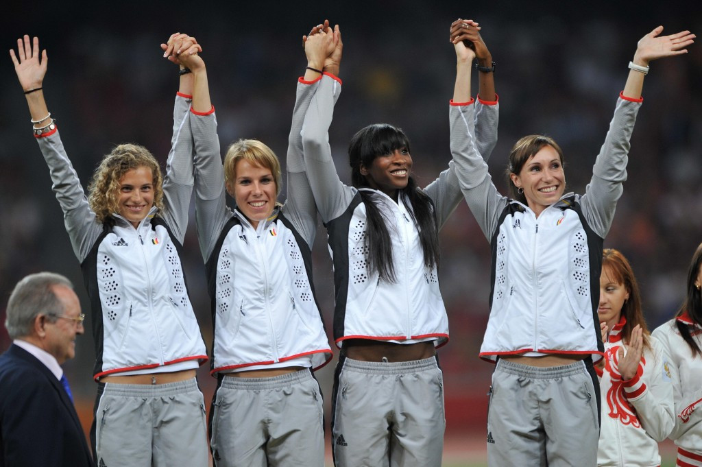 Belgium received their upgraded gold medals in Brussels this month ©Getty Images