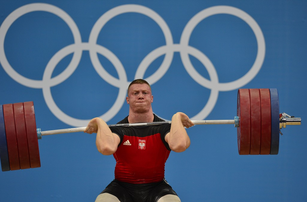 Tomasz Zielinski of Poland, who finished ninth in the men's 94kg competition in London four years ago, is in line to receive an Olympic bronze medal ©Getty Images