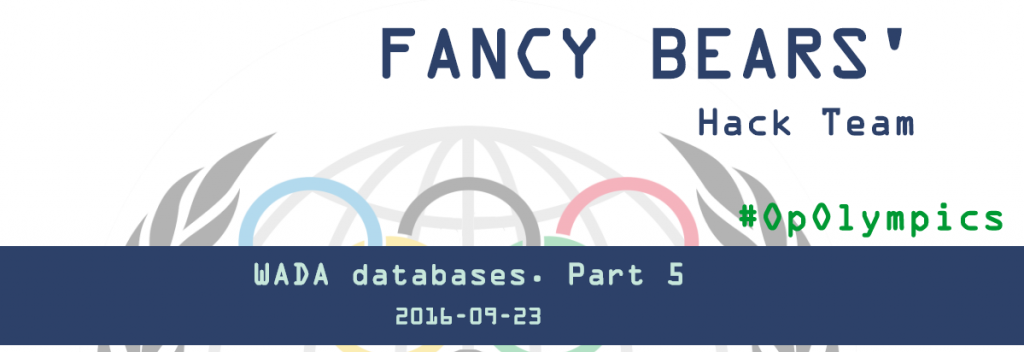A fifth release of data has been carried out by the Fancy Bears hacking team ©Fancy Bears