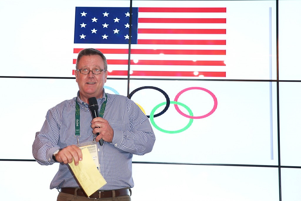 Scott Blackmun has hailed the importance of a marketing agreement with LA 2024 ©Getty Images