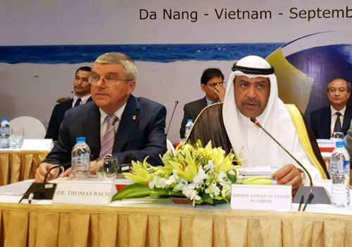 Thomas Bach defended the IOC response to doping problems at today's OCA General Assembly ©OCA