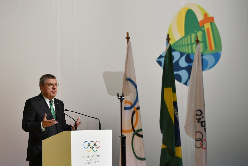 Thomas Bach and the IOC membership fiercely criticised WADA at the IOC Session in Rio de Janeiro last month ©Getty Images
