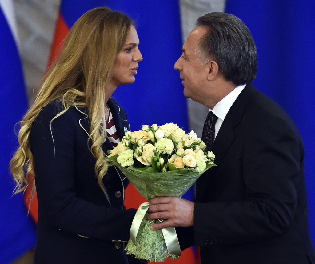 The Sports Ministry, led by Vitaly Mutko (right), will not hold positions at RUSADA ©Getty Images