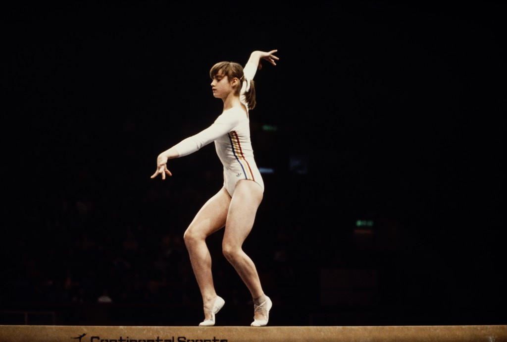Nadia Comăneci made history at the 1976 Olympics in Montreal when she scored a perfect 10 as she won three gold medals ©Getty Images