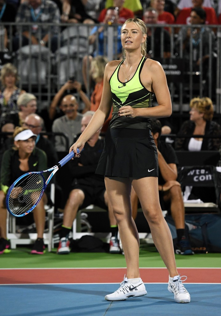 Maria Sharapova played in the World Team Tennis Smash Hits charity tennis event benefiting the Elton John AIDS Foundation  ©Getty Images