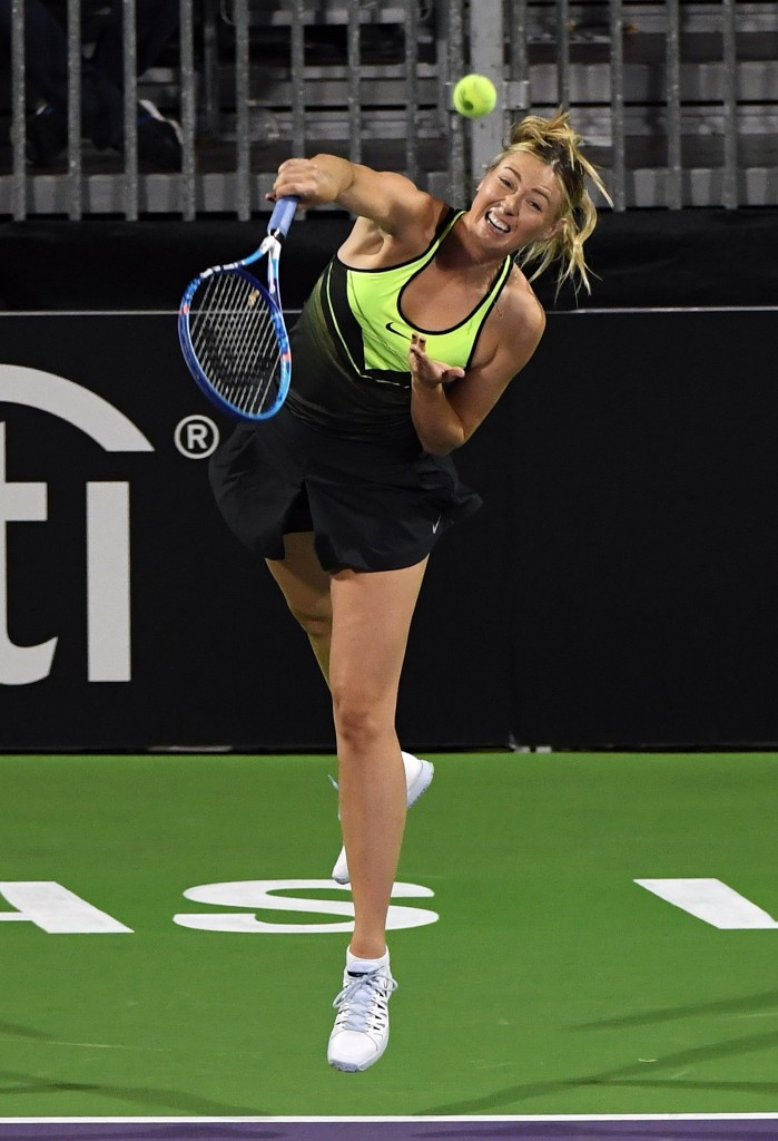 Maria Sharapova is able to participate in exhibition matches, the ITF has said ©Getty Images
