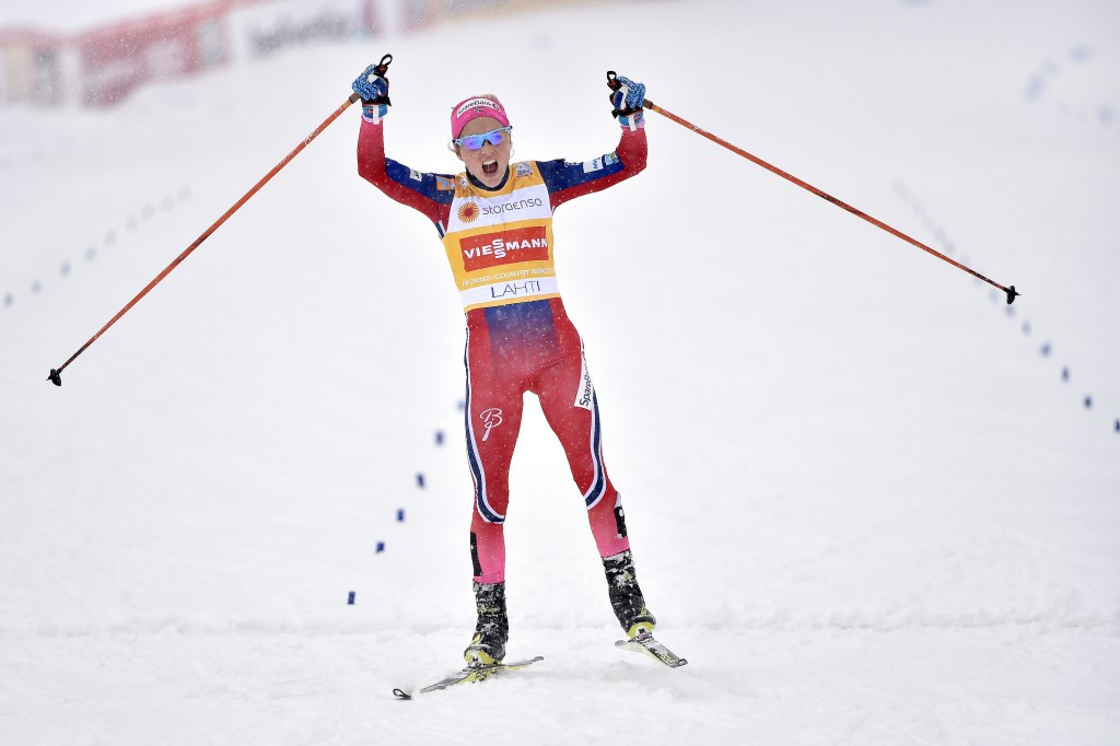 Three-time Olympic medallist Therese Johaug has failed a drugs test ©Getty Images
